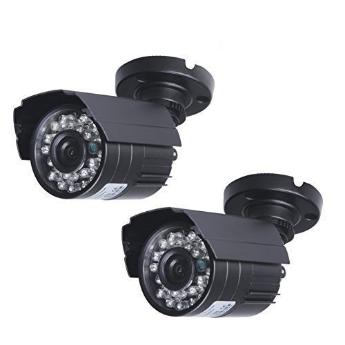SW 1200TVL Surveillance CCTV Camera with High Resolution Night Vision Security Outdoor/ Indoor Bullet Camera Pack