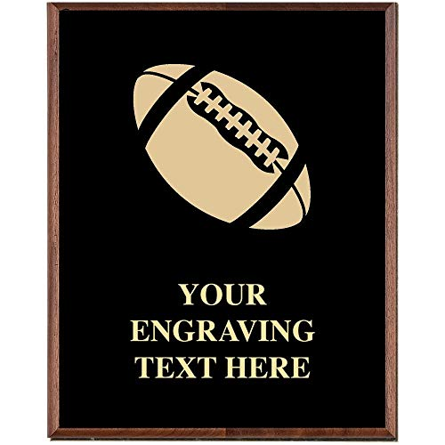Crown Awards Football Plaques, Custom Engraved Football Trophy Plaque Award, Great Customizable Football Team Gift Prime