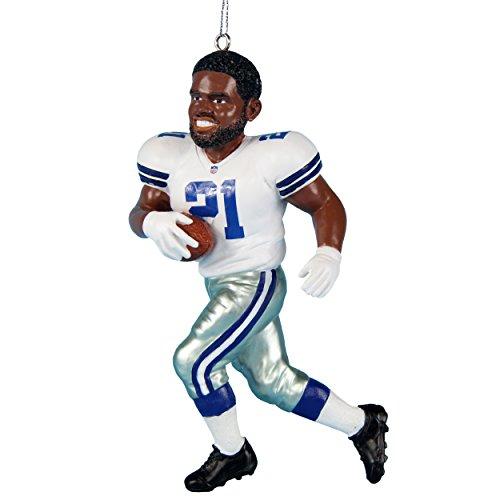 FOCO Dallas Cowboys Elliott E. #21 2017 Resin Player Ornament ()