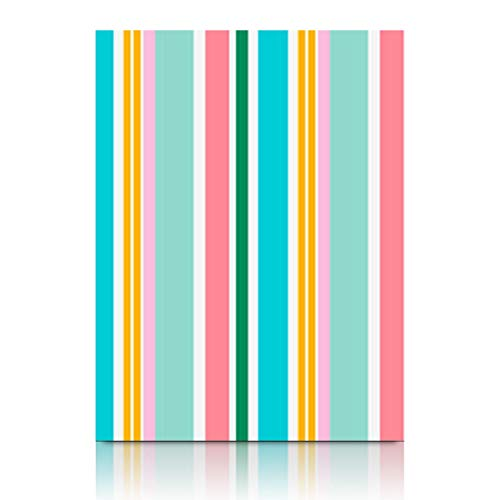 Canvas Wall Art Print Painting Striped Colorful Line Stripes Texture Wooden Frame Stretched Artwork Printing 12 x 12 Home Bedroom Living Room Office ()