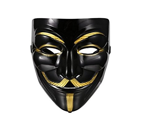 V for Vendetta Anonymous Mask Masquerade Halloween Fancy Dress Cosplay - 3