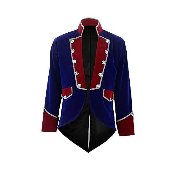 Darkrock New Men's Velvet Vladimir Tuxedo Jacket Tailcoat Goth Steampunk Victorian 3
