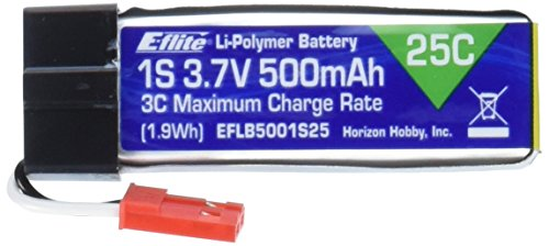 E flite 500mAh 3 7V LiPo Battery product image