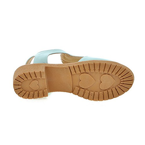 Leather Womens BalaMasa ASL04914 Smooth Cold Sandals Blue Urethane Lining Solid qAPPBwOX