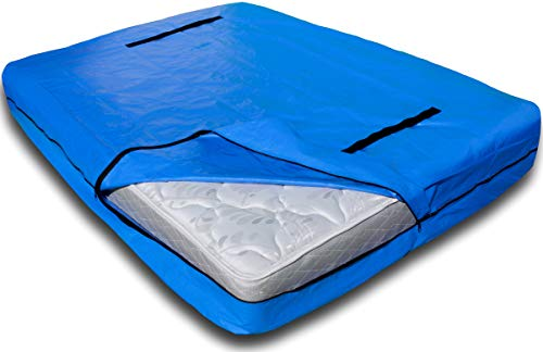 Nordic Elk Mattress Bag with 8 Handles for Moving and Storage - Queen Size - Reusable Cover with Strong Zipper Closure - Extra Thick Mattress Protection - Mattsafe (Jamison Pillows)