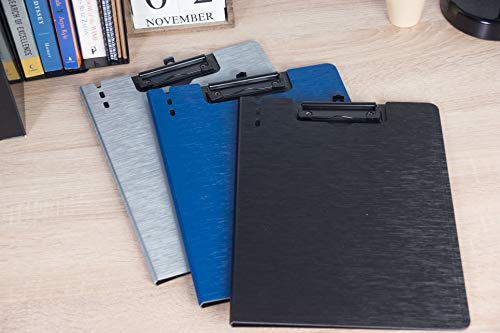 Letter Size Cover Folder Clipboard - 6-Pack 3 Assorted Colors Arch File Cover Folder Clipboards with Low Profile Clip, for Classroom and Office, Grey, Blue, Black, 9.3 x 12.6 inches by Juvale (Image #1)