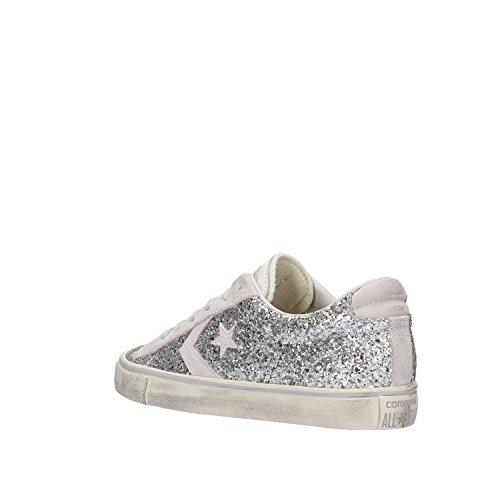Silver 556746C Argento Glitter Pro CONVERSE Leather qnwOxZEv