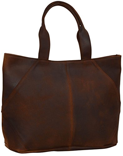 "Gusti Leder Studio ""Cecilia"" borsa shopper da donna città unisex elegante marrone 2M43-26-23"
