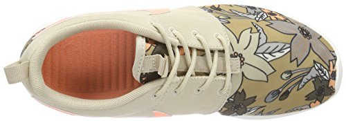 NikeWMNS NIKE ROSHE ONE PRINT PREM - Zapatillas Mujer Beige - Beige (281 RATTAN/SUNSET GLOW-SAIL)