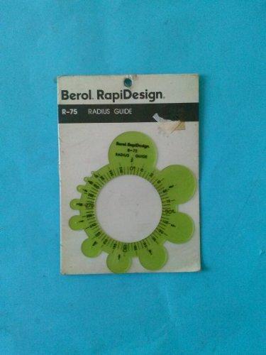Berol, RapiDesign, R-75 Radius Guide by RAPIDESIGN