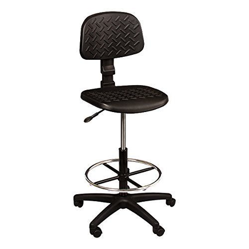 Norwood Commercial Furniture Adjustable-Height Mobile Industrial Drafting Stool, NOR-ENI1084-SO Industrial Drafting Stool