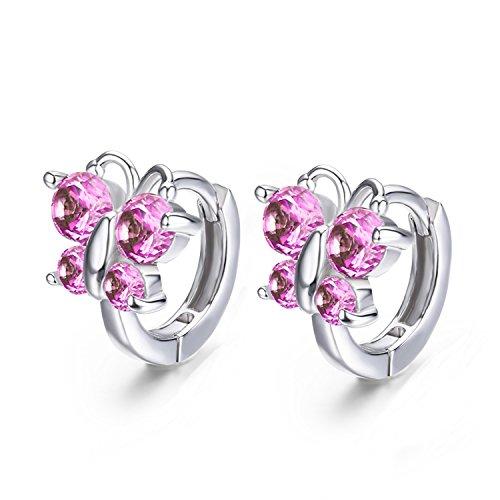 rling Silver Small Round Loop Huggies Hoop Earrings For Women Kids Baby Girls Children ()