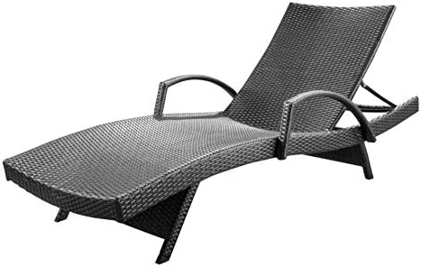 Christopher Knight Home Salem Outdoor Wicker Armed Chaise Lounge