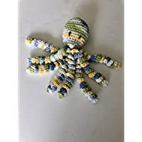 Crochet Octopus for Preemies, Crochet Octopus for Babies in Variegated Light Blue, Green, white and Yellow, Crochet Amigurumi