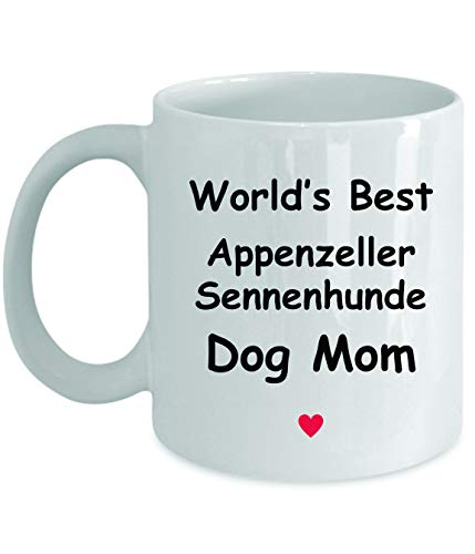 Gift For Appenzeller Sennenhunde Dog Mom - World's Best - Fun Novelty Gift Idea Coffee Tea Cup Funny Presents Birthday Christmas Anniversary Thank You Appreciation 11oz White Mug 1