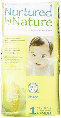 Nurtured by Nature Environmentally-Sensitive Diapers, Size 1, 40 Count (Pack of 4)