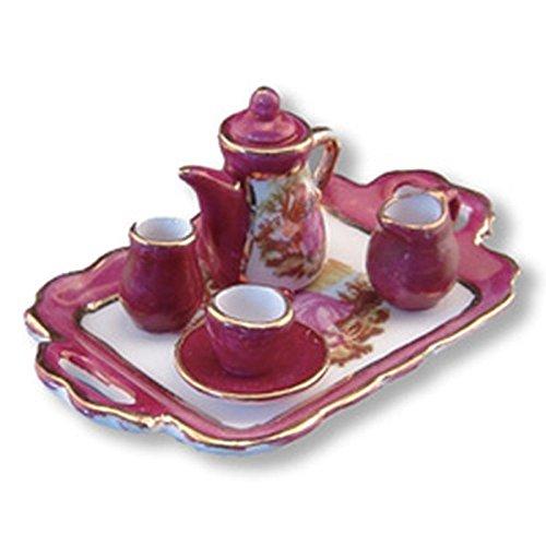 Reutter Porcelain Dollhouse Miniature Limoges Style Tea Set w/Tray by