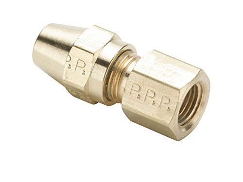 Parker Hannifin 66AB-8-8 Brass Air Brake-AB Female Connector Fitting, 1/2'' Compression Tube x 1/2'' Female Thread