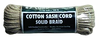 Rope King CSC-7100 Cotton Sash Cord #7 - 7/32 inch x 100 feet