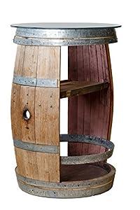 Le Porte del Chianti - Tavolino barrique da Dehors e degustazione con Top in Cristallo temperato