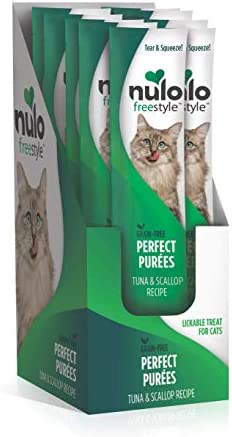 Nulo Freestyle Perfect Purees – Grain Free Cat Food, Case of 48 – Premium Cat Treats, 0.50 oz. Pouches – Meal Topper for Felines – High Moisture Content and No Preservatives