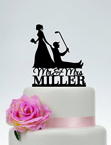Funny wedding cake toppers bride and groom golf wedding cake funny wedding cake toppers bride and groom golf wedding cake toppersmr and mrs junglespirit Images