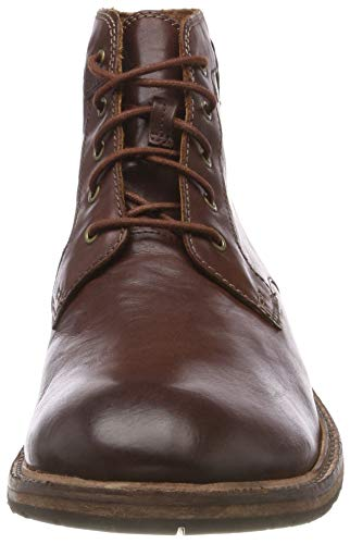 Marrón Botines Para Hombre Bud mahogany Clarkdale Clarks Leather Leather Leather b301e8