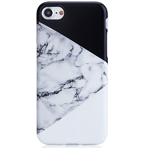 iPhone 7 Case,iPhone 8 Case,Multi-Colored black and white marble VIVIBIN Anti-Scratch Shock Proof Soft TPU Gel Case Silicon Protective Skin...  iphone 7 cases marble | Unboxing Phone Cases | PopSockets 41C5RBH7JWL