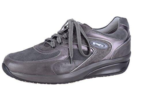Nero Giardini Sneaker Pelle/Camoscio Uomo A201400U Rodeo Piombo