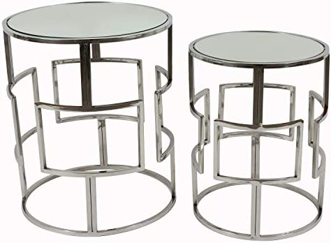 D cor Therapy Adrian Nesting Table, Shiny Polish