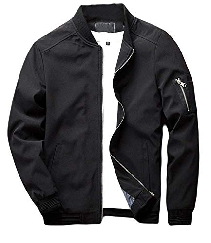 Hombres Jacket Stand Fit Up Con Exterior Long Flight Bomber xIBqv5TEcw