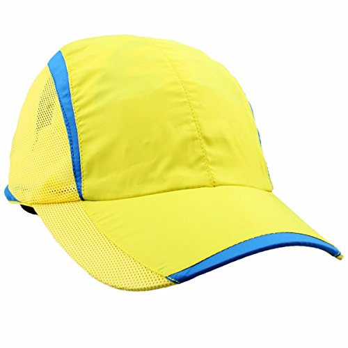 (squaregarden Baseball Cap Hat,Running Golf Caps Sports Sun Hats Quick Dry Lightweight Ultra Thin,Yellow,One Size)