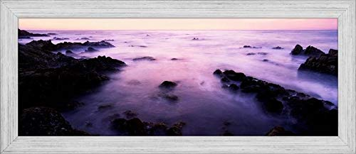 Easy Art Prints Panoramic Images's 'Sunset Over The sea, 17-Mile Drive, Monterey Bay, California, USA' Premium Framed Canvas Art - 24