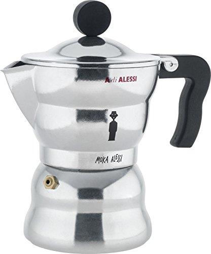 """Moka Alessi"" Espresso / Coffee Maker Size: 6.5"" H x 3.75"" W x 3.75"" D"