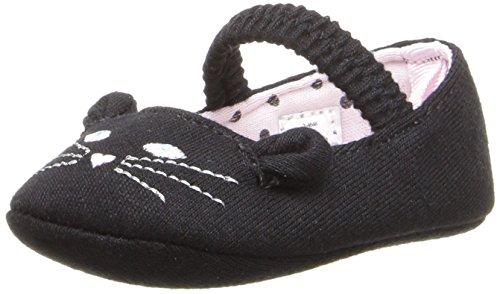Baby Deer Girls' Skimmer with Cat Slip-On, Black, 2 M US Infant
