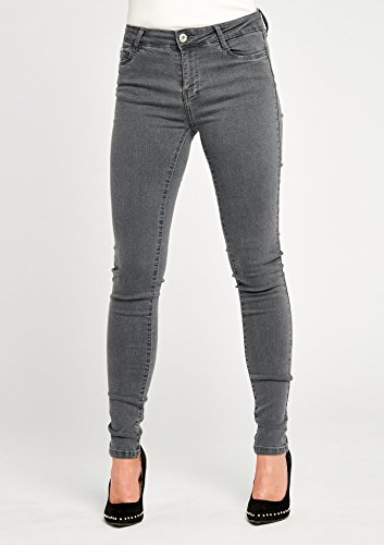 LOLALIZA 34 Gris Normale 44 Tailles Jeans Taille Skinny ZxFTYqwZpr