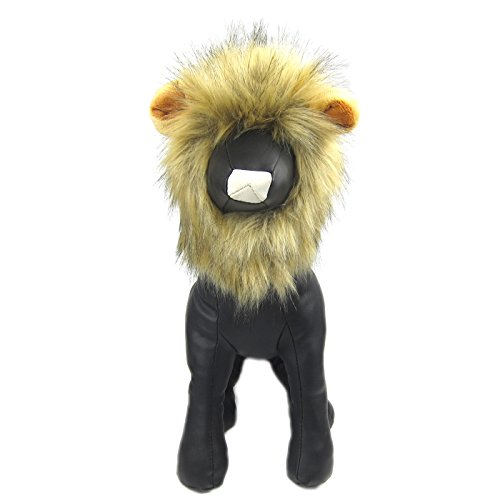 Woof Boy Costume (Alfie Pet by Petoga Couture - Leigh Lion Mane Wig Costume for Dogs and Cats - Color: Grey)