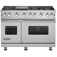 Viking VGCC5486GSS: 48 Custom Sealed Burner Range, Natural Gas, No Brass Accent