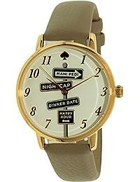 Kate Spade Women's Metro KSW1126 Gold Leather Quartz Watch