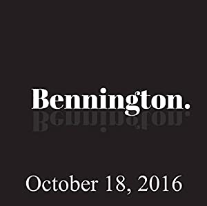 Bennington, October 18, 2016 Radio/TV Program