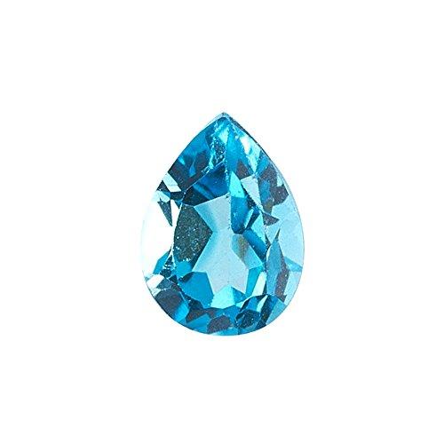 Mysticdrop 1.35-1.85 Cts of 9x6 mm AAA Pear Swiss Blue Topaz (1 pc) Loose Gemstone