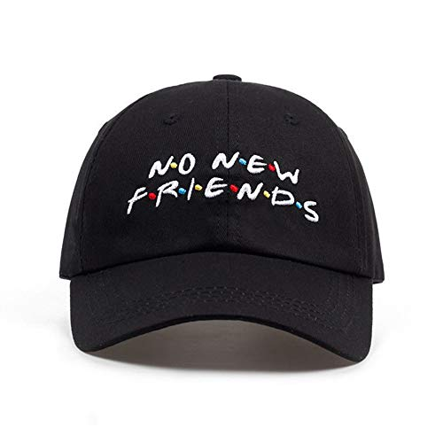 NO New Friends Embroidery Baseball Cap Dad Hat Trending Rare Cap for Men Women