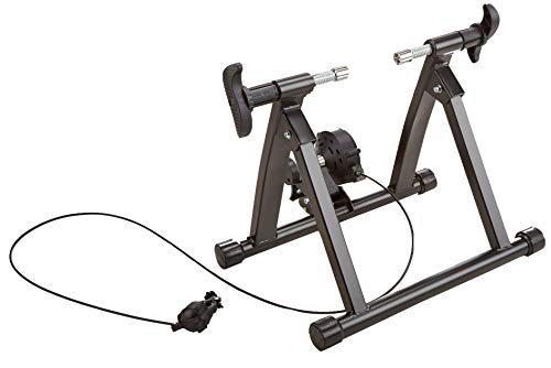 HulkFit Bike Trainer Stand Steel Bicycle Exercise Magnetic Stand with Noise Reduction Wheel (Black)