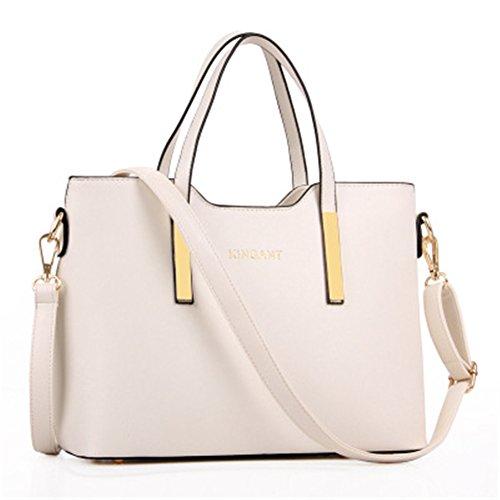 Top Shop Womens Leather Handbags Messenger Shoulder Bags Hobos Totes Beige Saddle by TOP SHOP BAG