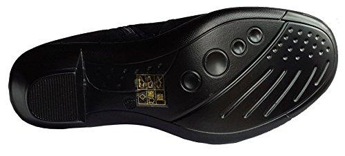 Insock Black Cushion Leather Womens Boots Walk in Angela Fashion Side Zip H6P4g6q