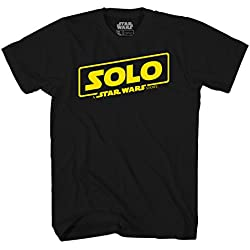 Star Wars Han Solo Movie Poster Logo Mens T-Shirt (Medium, Black)