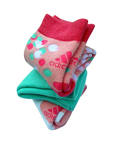 adidas Full Cushion Cotton High Ankle Socks, Girl's Pack of 3