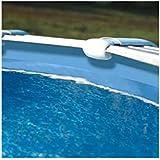 Gre FPROV738–Liner Bleu 40/100pour piscine ovale 730x 375h 132