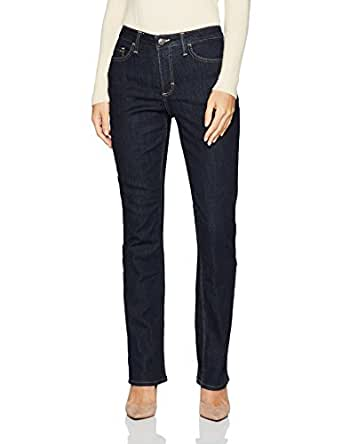 Riders by Lee Indigo Womens ZFC2MF Fleece Lined Slim Straight Jeans - Blue - 14