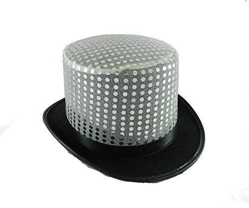 Silver Sequin Top Hat (Silver Sequin Top Hat)